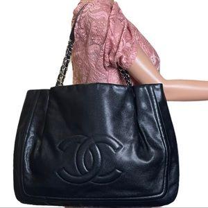 💎✨HUGE✨💎 Chanel CC Shoulder Tote Bag Caviar